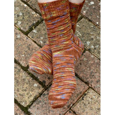 Vanilla Sock with Gusset and Choice of Reinforced Heel