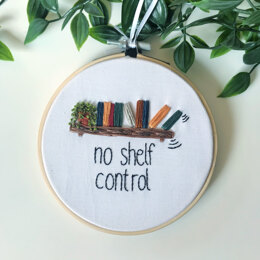 No Shelf Control Embroidery Pattern
