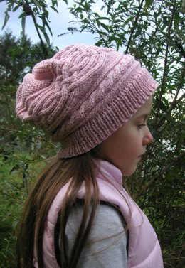 Saraqel - Cable Hat Longbeanie for Girls