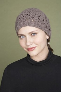 Lace Beanie in Lion Brand Cotton-Ease - 70177