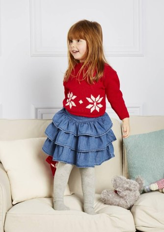 Unisex Christmas Jumper and Hat for 1 -8yr olds