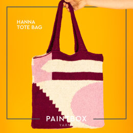Hanna Tote Bag - Free Knitting Pattern For Women in Paintbox Yarns Recycled Cotton Worsted by Paintbox Yarns