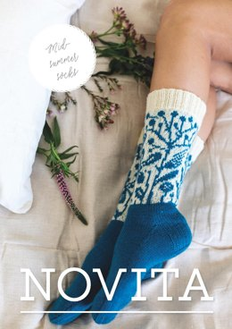 Midsummer Colorwork Socks for Women in Novita Venla - 31 - Downloadable PDF