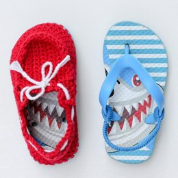 Toddler Boat Shoes with Flip Flop Soles