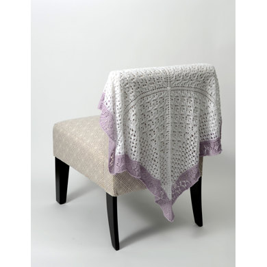 Lace Sampler Baby Blanket in Universal Yarn Little Bird - Downloadable PDF