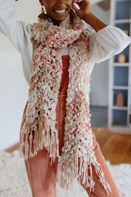 Wavy Feather Scarf in Knit Collage Cast Away - Downloadable PDF