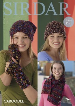 Hats, Wristwarmers and Scarf in Sirdar Caboodle - 7841 - Leaflet
