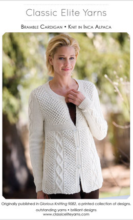 Bramble Cardigan in Classic Elite Yarns  Inca Alpaca - Downloadable PDF