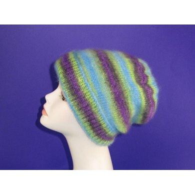 Angel Prints Mohair Slouch Hat