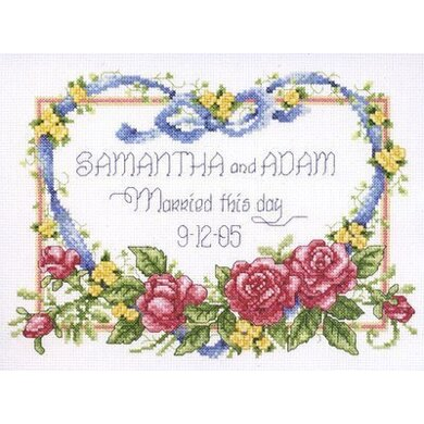 Janlynn Corporation Married This Day Cross Stitch Kit - 25.5cm x 20.5cm