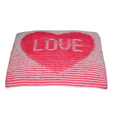 Illusion Love Cushion Knitting pattern by Steve Plummer