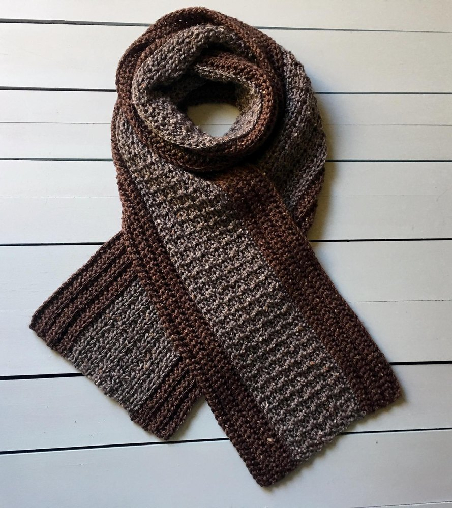 Mans Crochet Scarf Pattern Your Man Tweeds A Crocheted Scarf