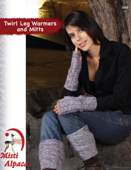 Twirl Leg Warmers and Mitts in Misti Alpaca Tonos Worsted - 2030