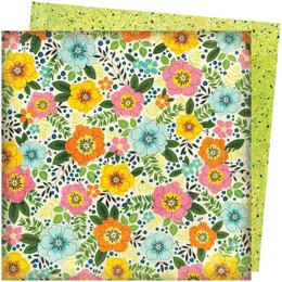 """American Crafts Vicki Boutin Let's Wander Double-Sided Cardstock 12""""X12"""" 25/Pkg - Sunshine & Smiles"""
