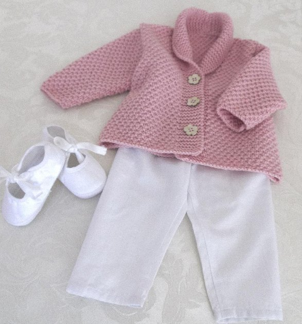 Versatile baby Cardigan or Vest with shawl collar P081 ...