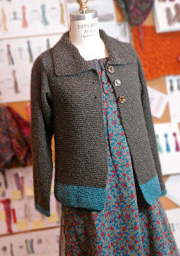 Sawtelle Adult Cardigan in Berroco Remix Aran