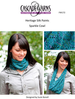 Paints Sparkle Cowl in Cascade Heritage Silk - FW172