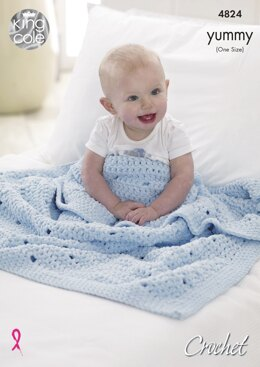 Crochet Blankets in King Cole Yummy - 4824 - Downloadable PDF