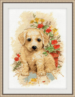 Oven My Puppy Cross Stitch Kit