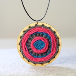 Hawthorn Handmade Go Weave Necklace Kit (Grey, Blue & Pink)