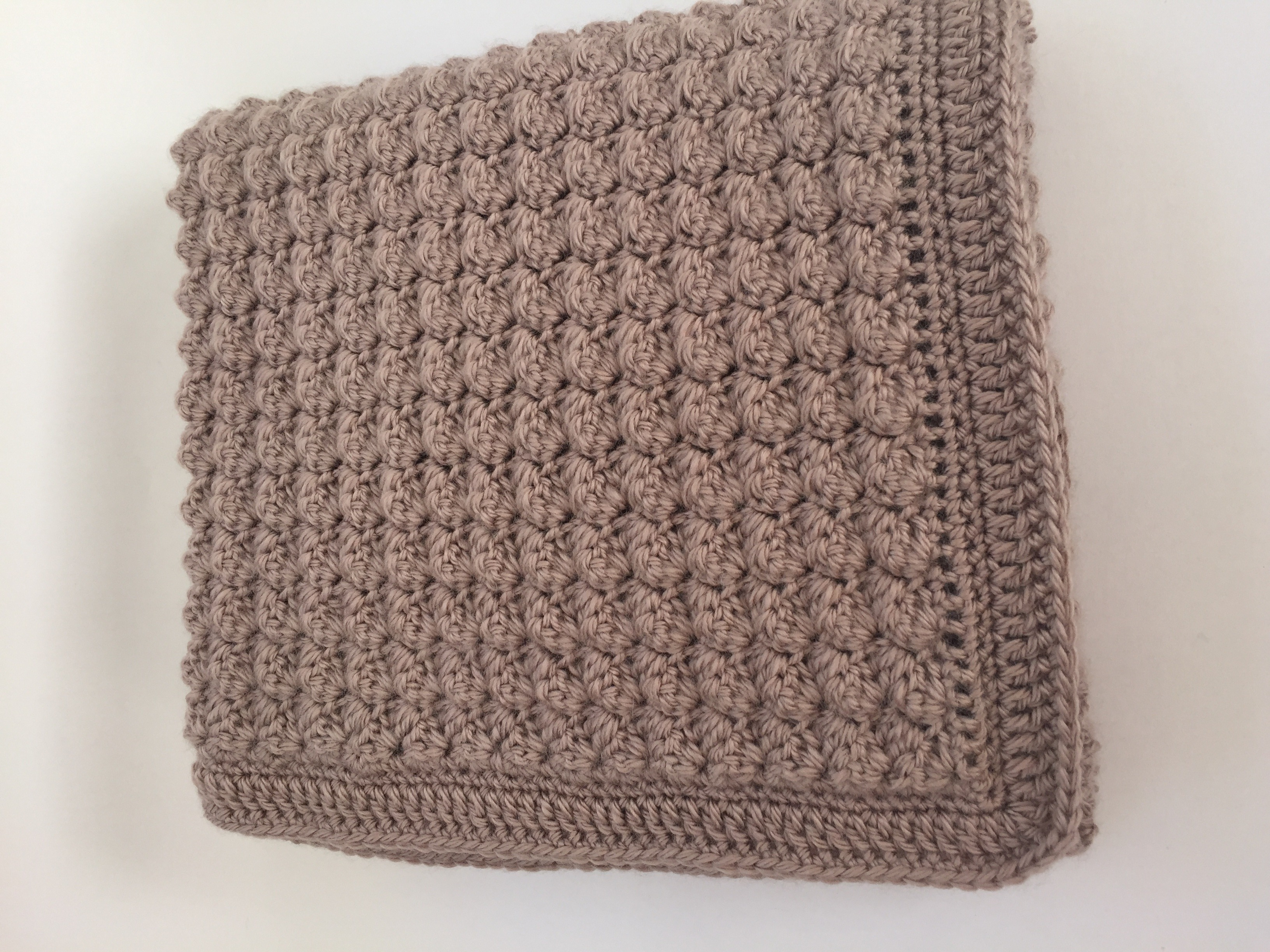 Chunky Bumpy Baby Blanket in dk crochet project by Deborah O ...