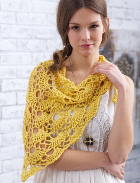 Yes Yes Shawl in Bernat Vickie Howell Cotton-ish - Downloadable PDF