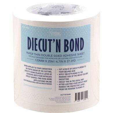 """Artdeco Creations Ultimate Crafts Diecut'N Bond Double-Sided Tape 4.72""""X82' - Clear"""