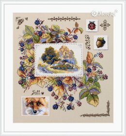 Merejka Autumn Sampler Cross Stitch Kit - 30cm x 32cm