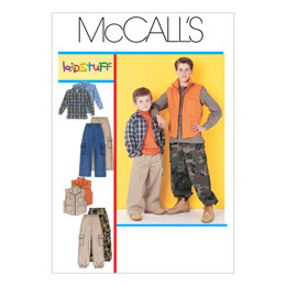 McCall's Children's/Boys' Shirt, Vest and Pull-On Pants M6222 - Sewing Pattern