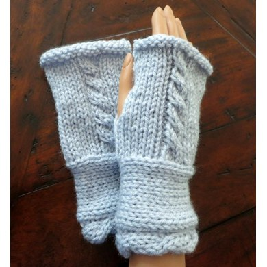 Fingerless Mittens to Match Traveler Cape