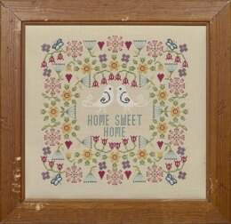 Historical Sampler Company Flower Home Sweet Home Sampler Cross Stitch Kit