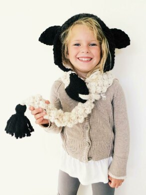 Lucille the Lamb Hooded Scarf