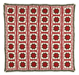Stocking Block Afghan Blanket Square For Stocking in Caron United - Downloadable PDF