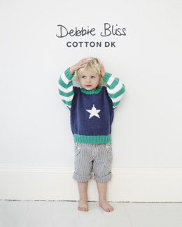 Star Jumper in Debbie Bliss Cotton DK - Downloadable PDF