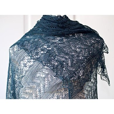 "Rectangle lace shawl ""Odile"""