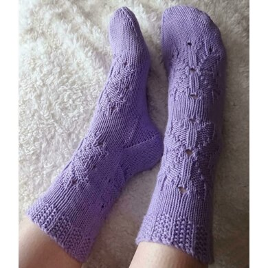 Snowflake Soft-top Socks