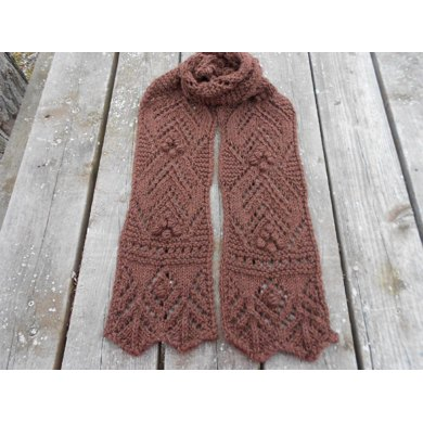 Chocolate Lace Scarf
