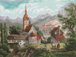 Riolis Monastery Cross Stitch Kit - 40cm x 30cm