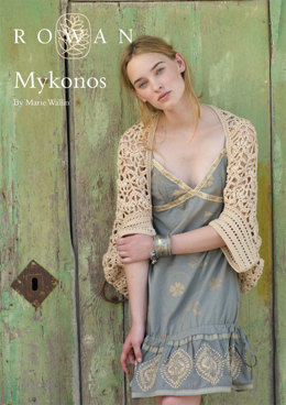 Mykonos Shrug in Rowan Cotton Glace