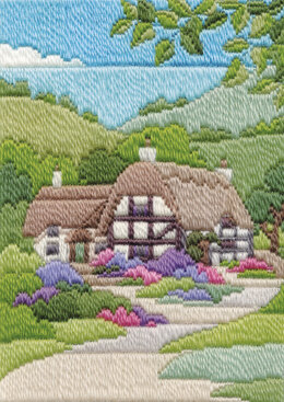 Derwentwater Designs Cottages Summer Long Stitch Kit - 17 x 24cm