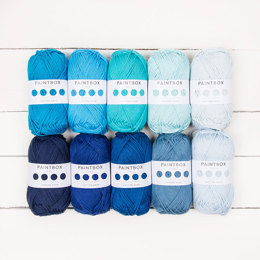 Paintbox Yarns Cotton Aran 10 Ball Colour Pack