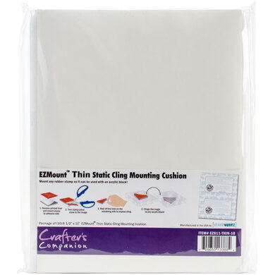 """Crafter's Companion EZMount Static Cling Mounting Foam 8.5""""X11""""  10/Pkg - For Stamps Already W/Foam"""