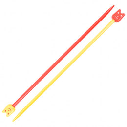 Pony Kinder Plastik Stricknadeln 18cm - 4,00mm