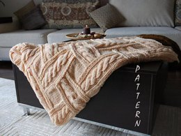 Patchwork Knitting Cozy Blanket
