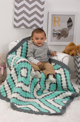 Baby Diamonds Blanket in Red Heart Classic Solids - LW4312 - Downloadable PDF