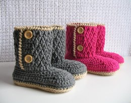 Two-Button Children's Boots