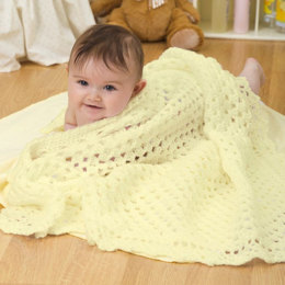 Sunshine Baby Blanket in Red Heart Baby Blankie - WR1920 - Downloadable PDF