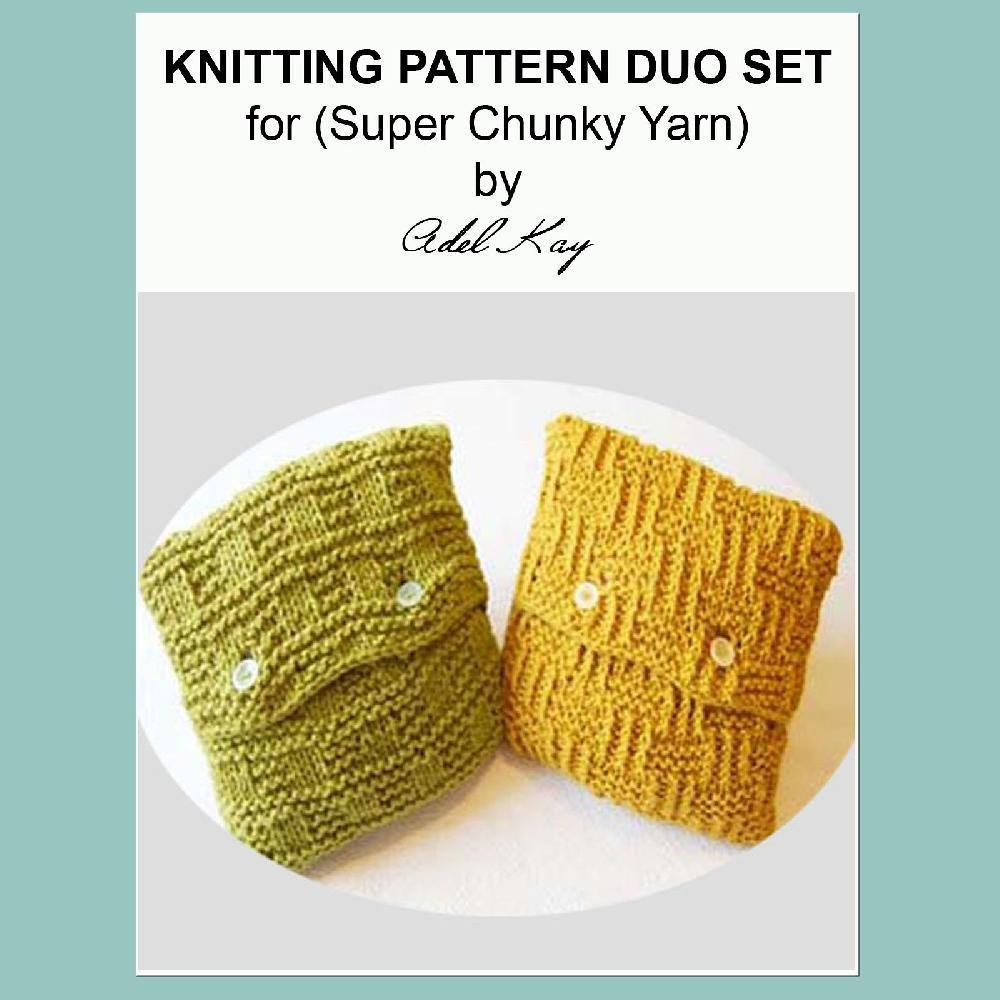 Mohair Cushion Knitting Pattern : Rae Duo Vintage Country Cottage Style Textured Cushion Set Chunky Yarn Knitti...