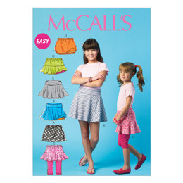 McCall's Children's/Girls' Skorts M6918 - Sewing Pattern