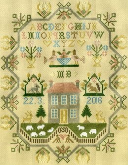 Bothy Threads Sheep May Safely Graze Sampler Cross Stitch Kit